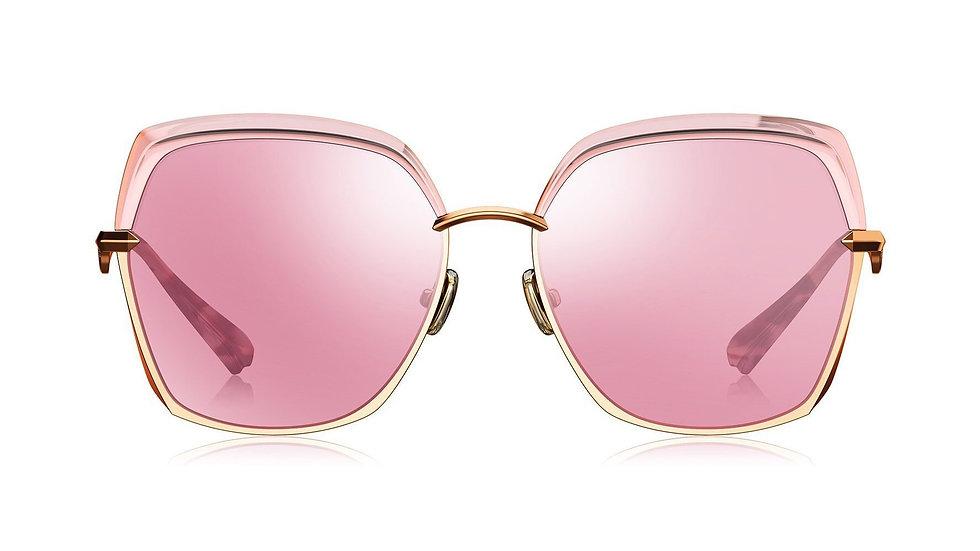 Bolon Eyewear BL6065 gafas de Sol Square Shape Pink Lenses front view