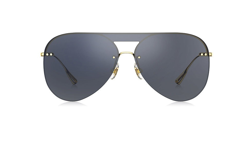 Bolon Eyewear BL7039 gafas de Sol Lente Gris Marco Dorado vista de frente