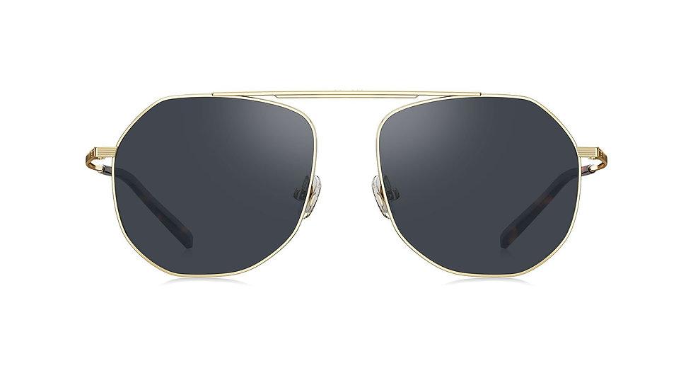Bolon Eyewear BL7096 Aviador Lentes Negros marco dorado vista de frente