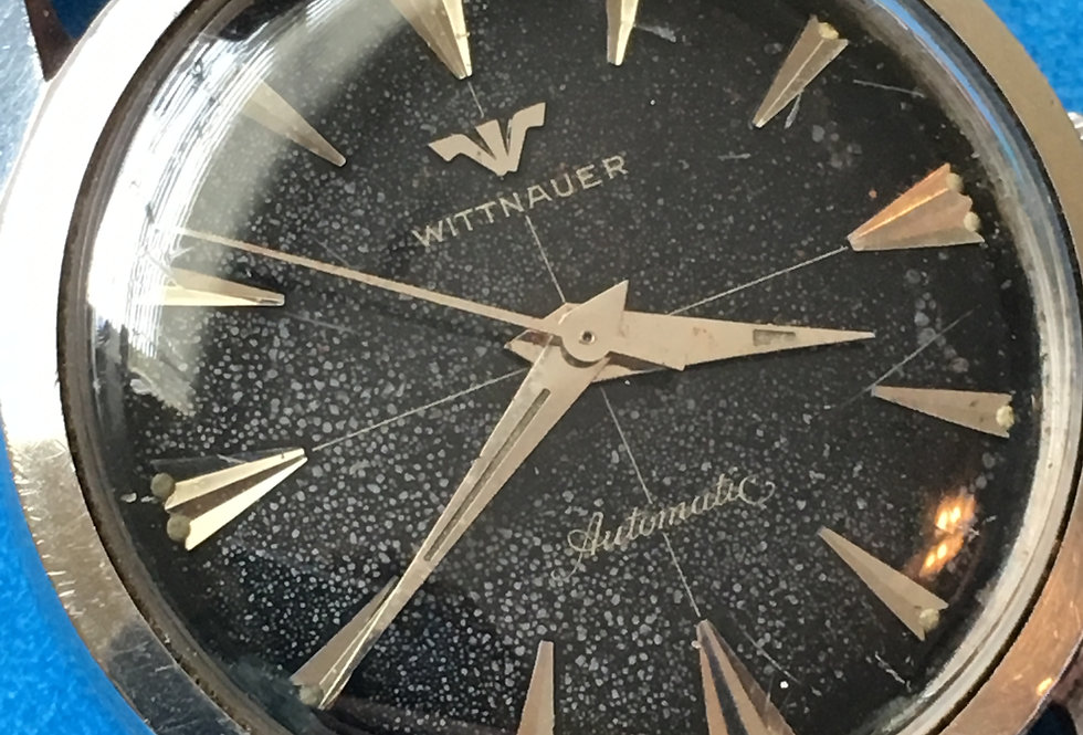 "Wittnauer ""Cosmic""Crosshair Black Dial Watch"