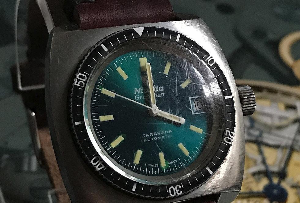 Nivada-Grenchen Taravana Emerald Dial Diver