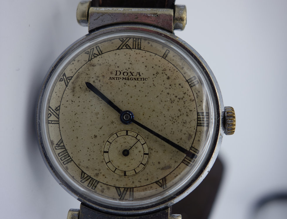 Doxa Scientific Swivel Lug Oversize Wristwatch