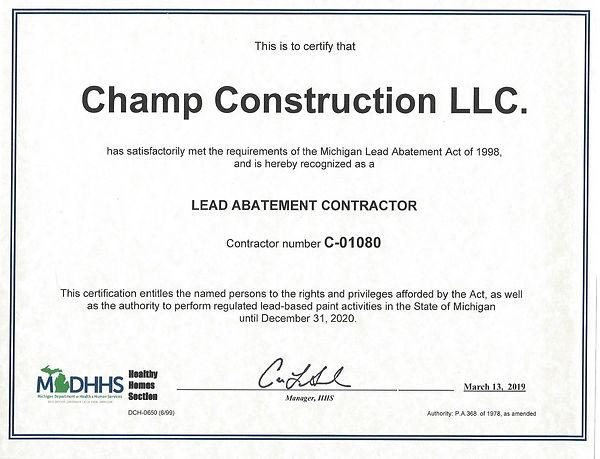 Lead Abatement Contractor Certification_