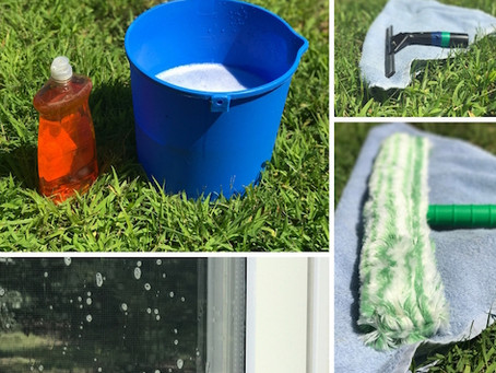 How to Wash a Window in One Minute...or Less!