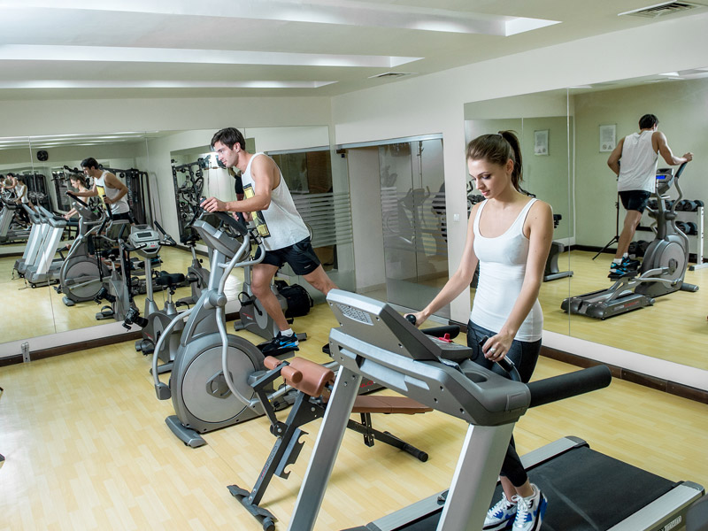 Gym at Canvas Hotel Shymkent