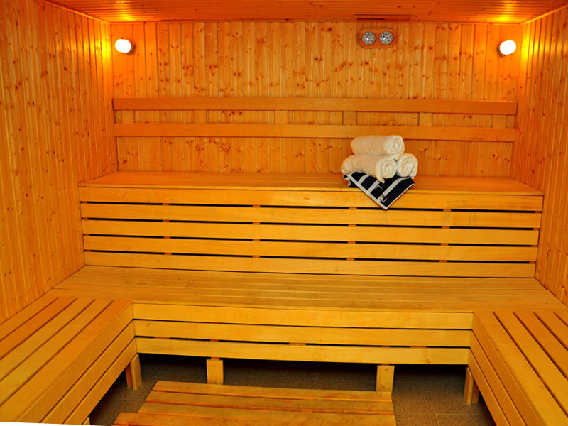 Sauna in Canvas Hotel Shymkent