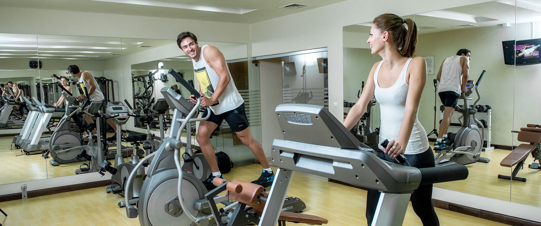 Gymnasium in Canvas Hotel Shymkent