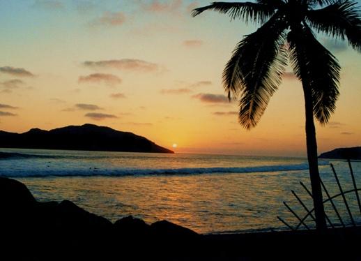 Mazatlan Sea at sunset