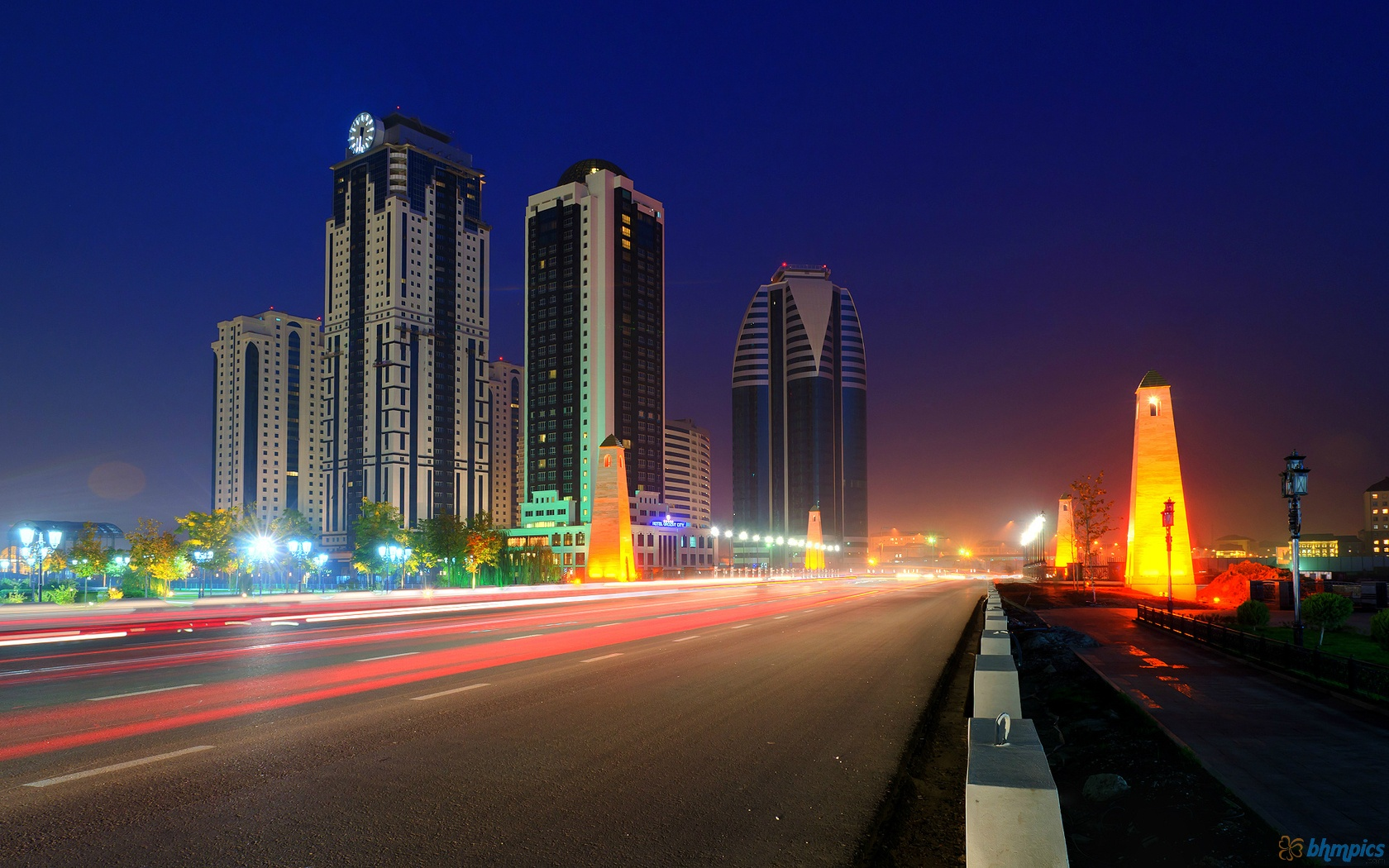Modern Grozny city