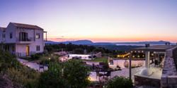 Beautiful panoramic view at sunset