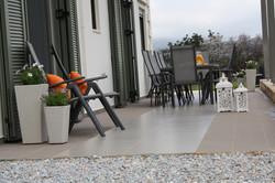 Rear patio looking towards Drapanos