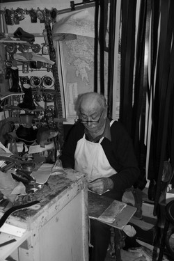 chania leather worker