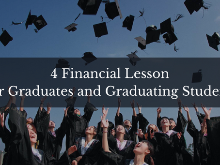 4 Financial lesson for graduates and graduating students