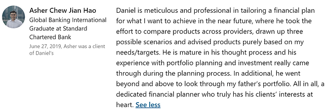 Daniel Lee Financial Advisor Recommendat