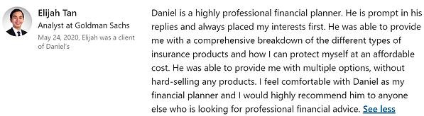 Daniel Lee Financial Advisor Recommendat