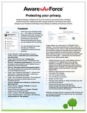 Aware Force | Protect Your Privacy June