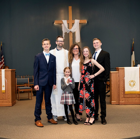 Pastor Adam and family