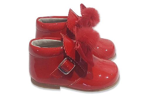 Condiz Buckle Pom Bow Boots - 4 Colours