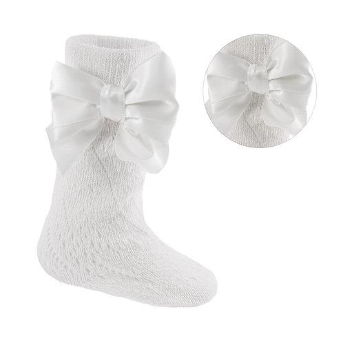 Pelerine Knee High Socks With Bow