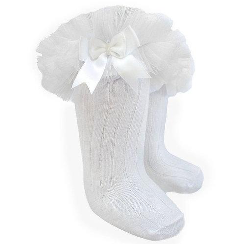 White Frilly Socks