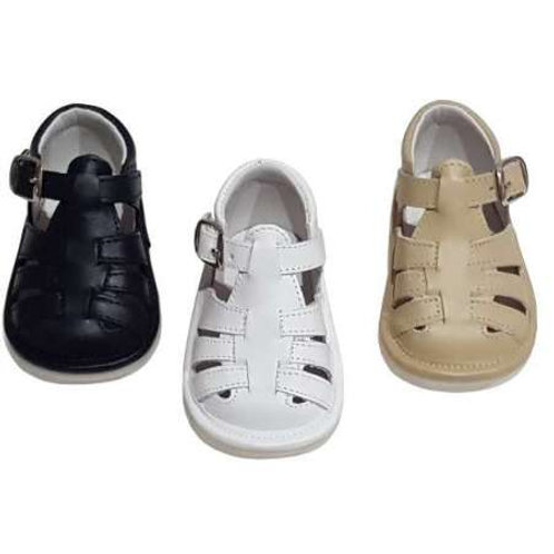 WHITE Citos Leather Sandals
