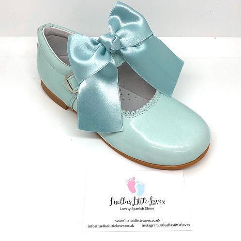 Cocoboxi Mint Bow Mary Janes
