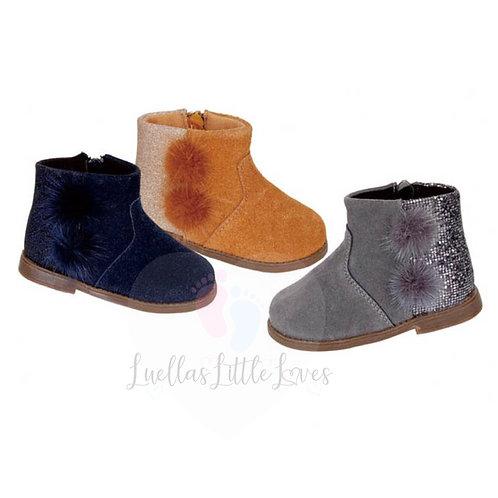 Phoebe Pom Glitter Boots