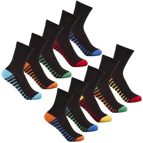 5 pack heel/toe sock