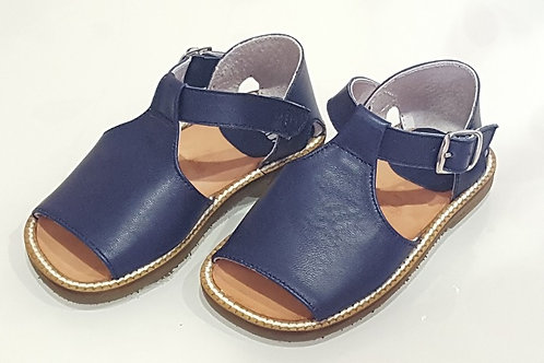 Navy Soft Leather Sandals