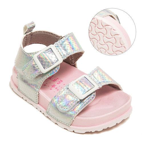 Silver Hologram Sandals