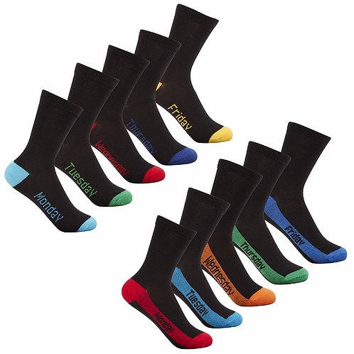 "5 pack of socks ""Monday to Friday"""