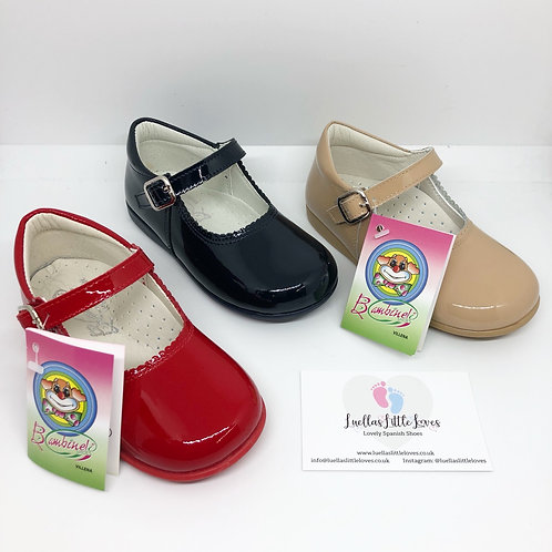 Bambi Patent Mary Janes - 8 Colours