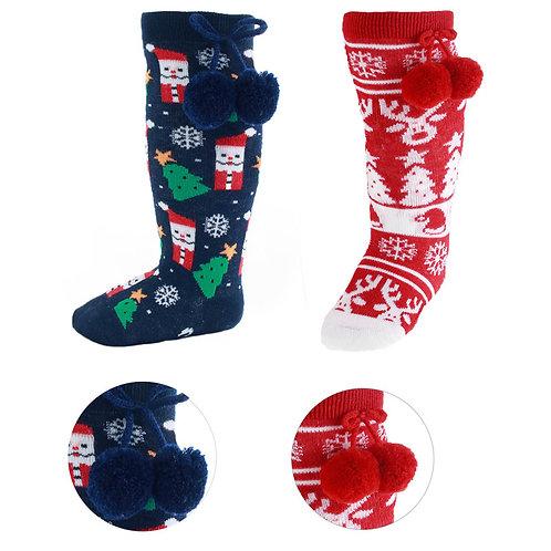 Christmas Pom Pom Socks