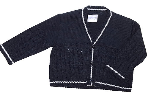 "Fritz ""Cable and Stripe"" Cardigan"
