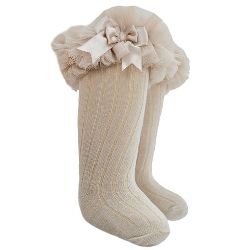 Camel Knee Frilly Socks