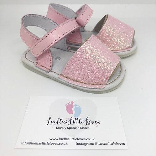 Pink Glitter Baby Avarcas