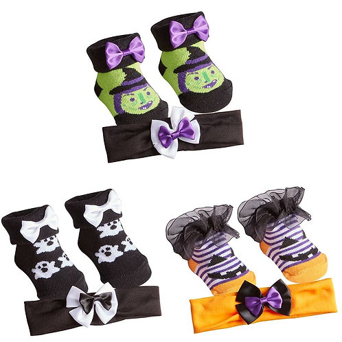 Halloween Booties and Headband