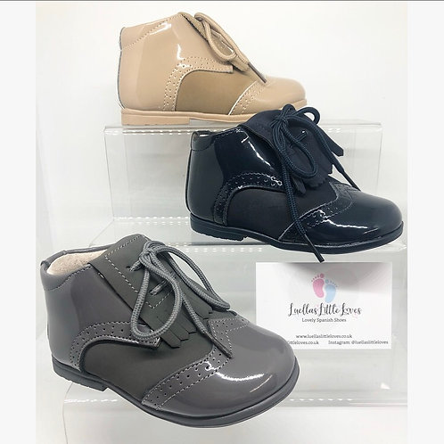Andi Part Patent Shoe Boot