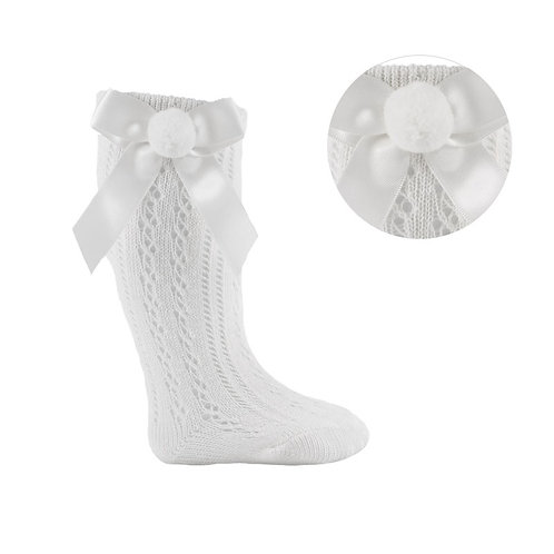 Pelerine Knee High Socks With Pom