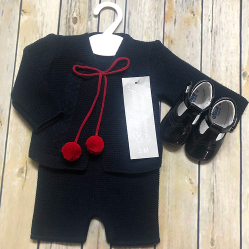 Knitted H Shorts Set