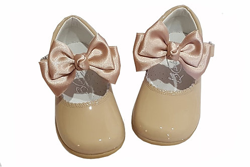 Bambi Patent Mary Janes With Bow - 7 Colours