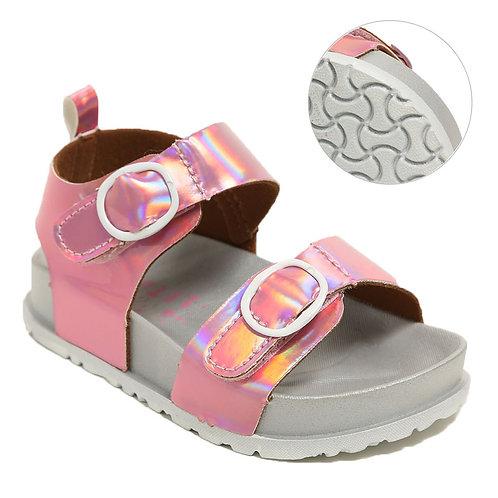 Pink Hologram Sandals
