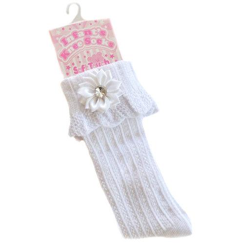 White Flower Socks