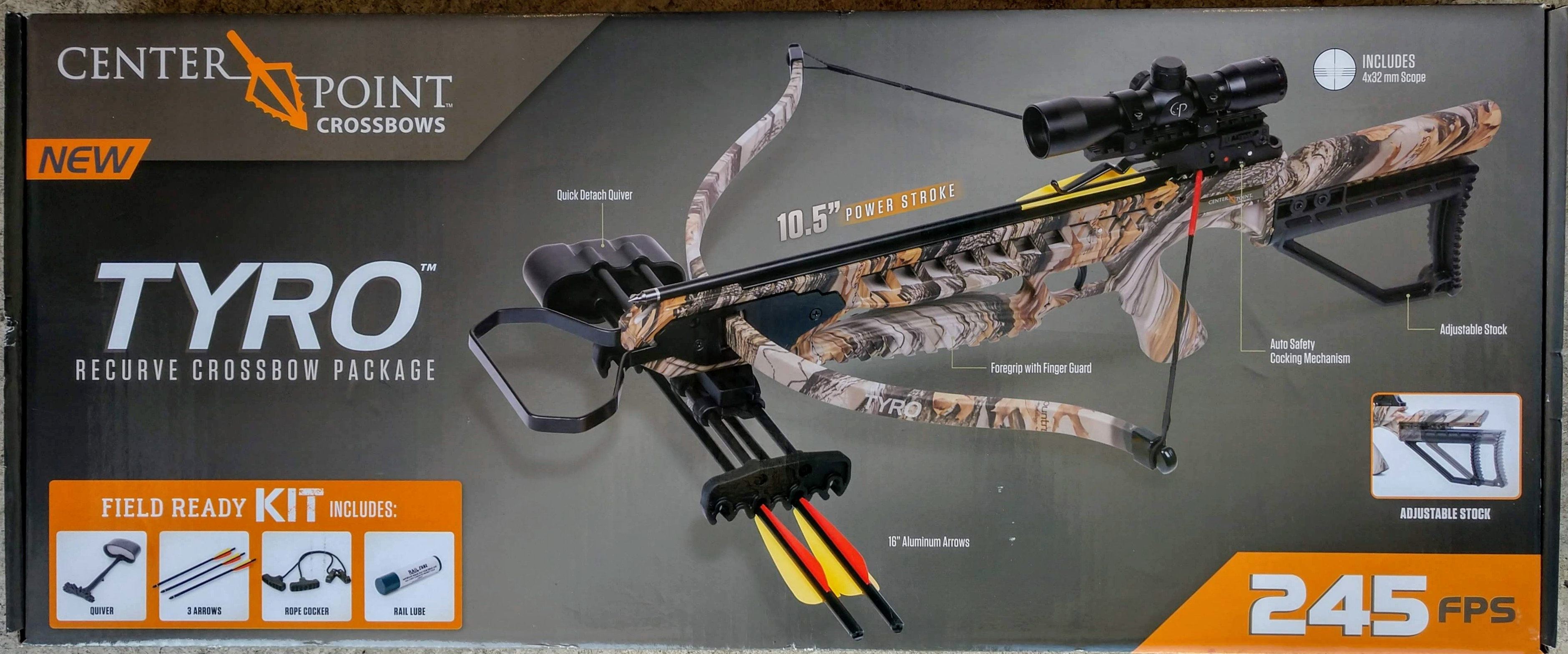 CenterPoint Archery TYRO Recurve Crossbow Kit with 4x32mm Scope | Dan King  Deals