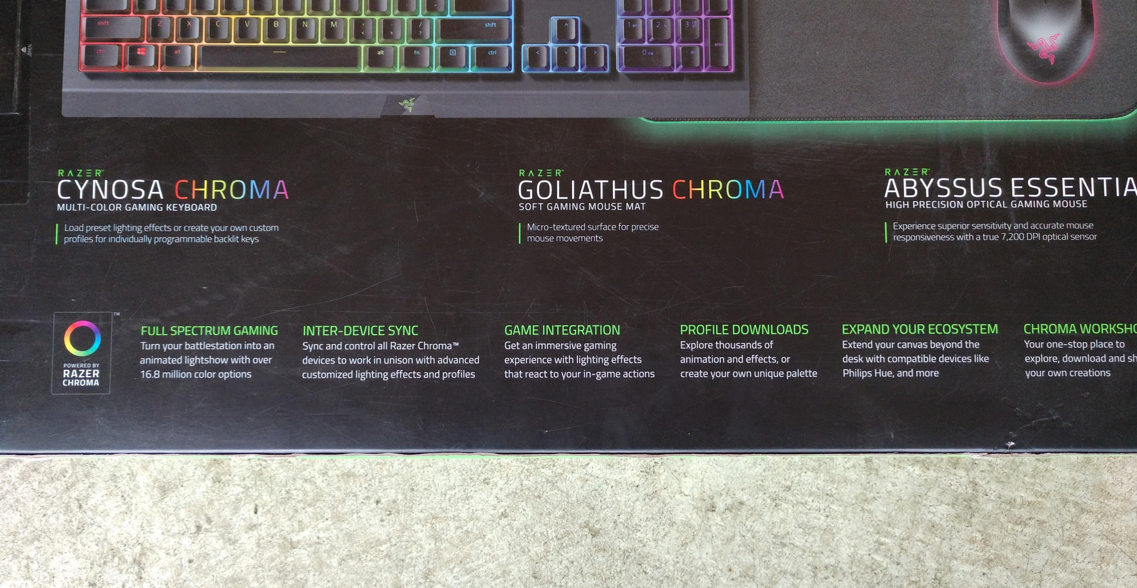 Razer Gaming Bundle - Keyboard, Mouse, and Mouse Pad