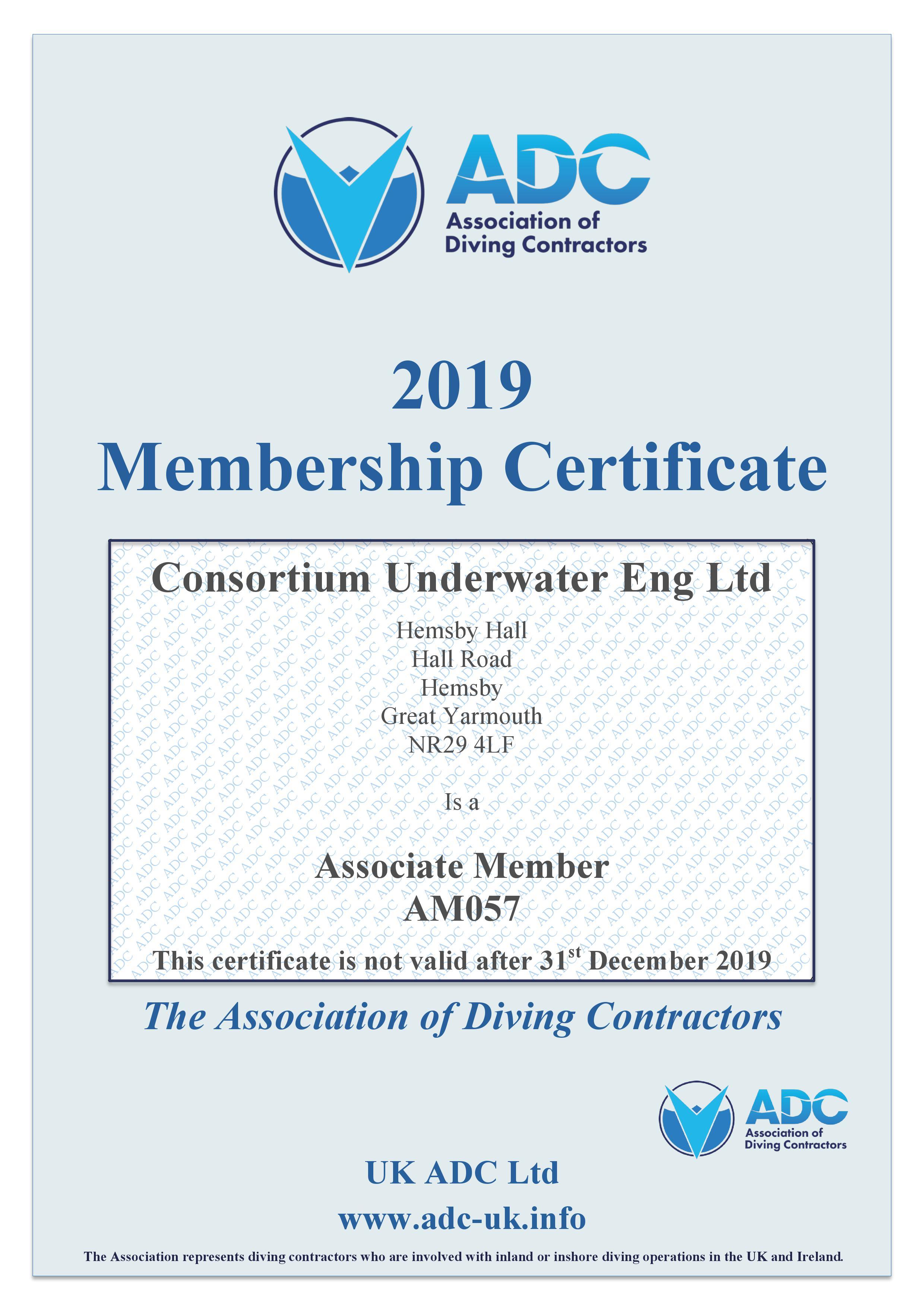 ADC CUE Cert 2019