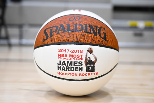 James Harden autographed basketball