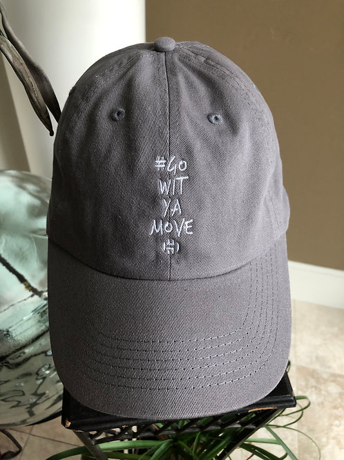 """Go Wit Ya Move"" Harden Hat in Grey"