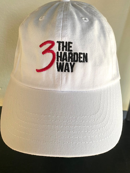 3TheHardenWay Cancer Awareness WHITE Hat