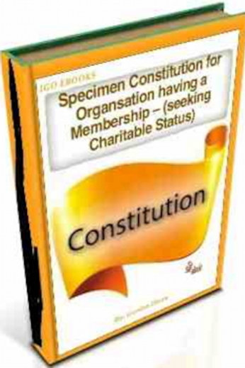 Specimen Constitution for an Unincorporated Organsation having a Membership – (S